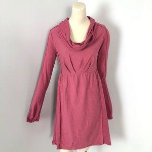 Saturday Sunday Slub knit Dress Cowl Neck Pink XS